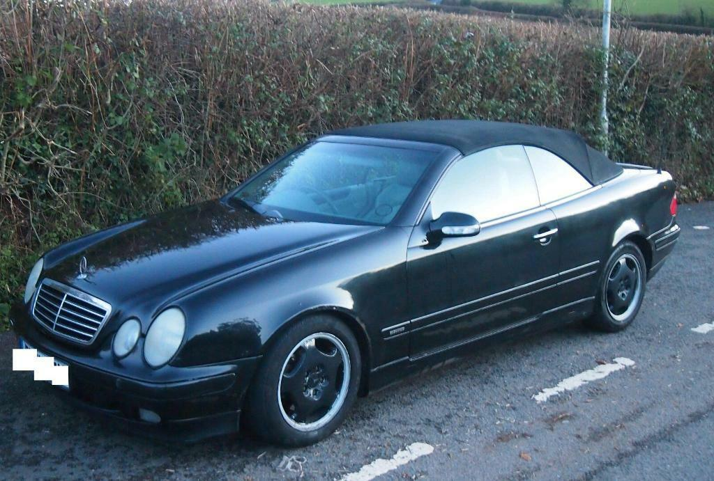 mercedes clk 230 kompressor convertible in tiverton. Black Bedroom Furniture Sets. Home Design Ideas