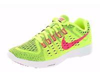 Original Brand New Nike Women's Lunartempo Yellow Pink running trainers UK Size 5