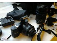 Samsung nx1000 camera and lenses one 18-200 OIS