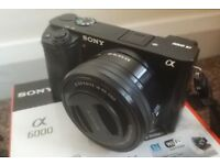 Sony A6000 24.3 MP Camera with kit lens, Boxed!