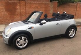 MINI ONE CABRIOLET LOW MILEAGE SERVICE HISTORY ONE YEARS MOT RECENT SERVICE CONVERTIBLE MINI ONE