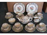 Spode/Copeland Chinese Rose Pattern. 29 Piece Tea Set
