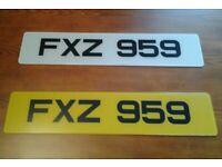 FXZ 959 - Cherished Registration Number (Dateless 3x3 NI Registration Number)