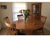 5' Oak table and 6 chairs , Pine Corner Unit, Kitchen and Conservatory Furniture