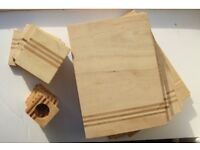 TABLE MATS SET, WOODEN
