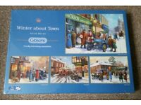 New and Sealed 4 x 500 piece Gubsons Jigsaw titled Winter About Town