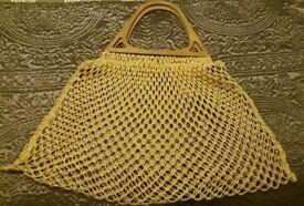 GENUINE VINTAGE, PLASTIC HANDLED MESH BAG