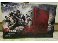 Xbox one s 2tb limited edition gow4 console , as new ,boxed ! Price stands ! May swap PS4 pro/games