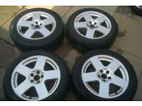 GENUINE AUDI TT ALLOY WHEELS 16 INCH 5X100 TYRES NEED CHANGING