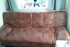 2 leather sofa beds for sale