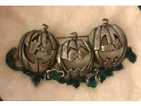 Halloween pumpkin brooch