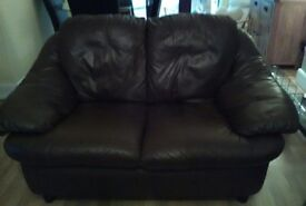 Very good condition two seater leather sofa