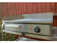 Commercial Electric Griddle, Hot Plate, contact grill machine catering equipment.