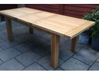 Very Large, Solid Oak Extending Dining Table, New & Unused.