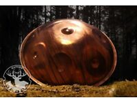 Copper handpan with La'Sirena scale, handpan from NaturePan