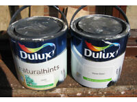 Various odd tins of paint suitable small rooms or maybe rented property?