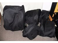 Set of 5 Soft padded drum cases zipped clearance set CHEAP plus others available