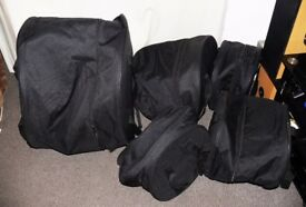 Set of 5 Soft padded drum cases zipped clearance set CHEAP!