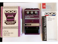 DOD FX56 American Metal distortion pedal, Original box.