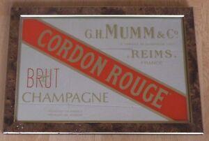 Miroir publicitaire champagne mumm cordon rouge for Miroir publicitaire