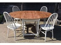 ~FREE DELIVERY~Stunning Rare Gateleg Pine Extending Large Dining Table Country Farmhouse Shabby Chic