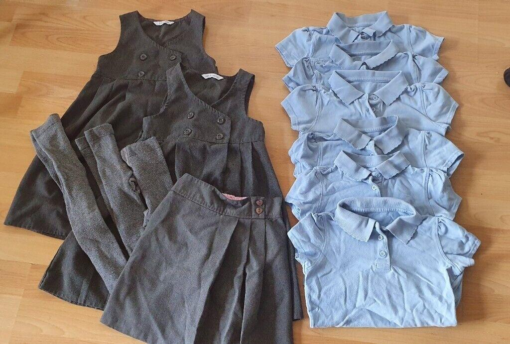 School uniform (blue shirts) Age 5 -6 | in Livingston, West Lothian |  Gumtree