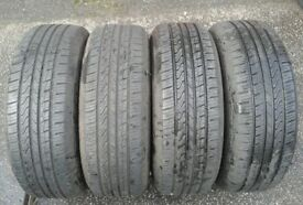 4 X JINYU YS42 235/65/17 104H TYRES WITH 7-8MM OF TREAD FITTING AVAILABLE