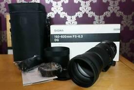 Sigma 150-600mm Contemporary lens, Canon EF mount