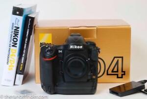 Nikon D4 16.2 MP Pro Digital SLR Camera MINT/LOW USE