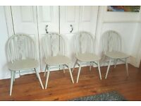 4 x Ercol Elm Chairs Mid Century Vintage