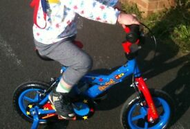 Kids Rocket Bike including stabilisers