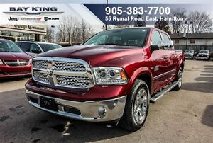 2016 Ram 1500 LARAMIE, NAVI, TONNEAU, SIDE STEPS, HTD LEATHER