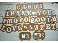 Shabby chic/rustic/vintage Wedding Decorations