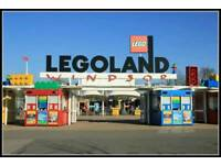 X6 Legoland Windsor Tickets for sale in school holidays