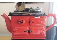 Swineside red aga pottery ornamental teapot 10 inches x 9 inches