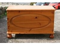 Solid Pine Blanket Chest Toy Box