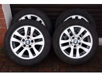 Set of Winter Tyres on BMW Alloy Wheels