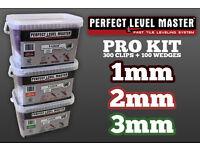 Perfect Level Master™ - Pro Kit - 300 Clips & 100 Wedges - Tile Leveling System - Uk Stockist