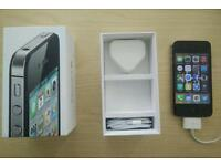 iPhone 4s 16gb in original box w/ new earphones.