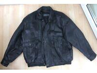 Leather Jacket - bomber style VGC