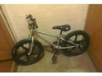 Silver Bmx with Mag Tyres
