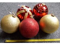 5 x Large Christmas Baubles - 15cm Diameter - £15 - Glenrothes