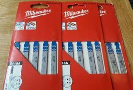 Milwaukee 4932254063 Thin Sheet Metal Jigsaw Blade Set 5 Pack x 3 packs