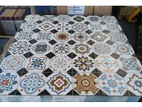 BEAUTIFUL OXFORD DECOR FLOOR & WALL PATTERNED TILES, VICTORIAN INSPIRED - 10m²