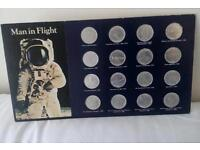 Man in Flight Coin Collection by Shell