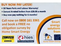 Replacement/New Boiler from £29.95 per month 10 years labour and Parts Warranty.