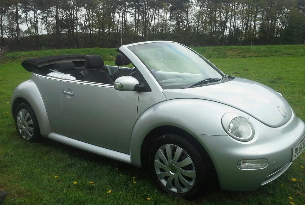 vw beetle cabriolet convertible 2004 silver in lincoln lincolnshire gumtree. Black Bedroom Furniture Sets. Home Design Ideas