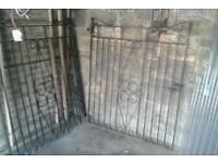 2 x wrought iron gates