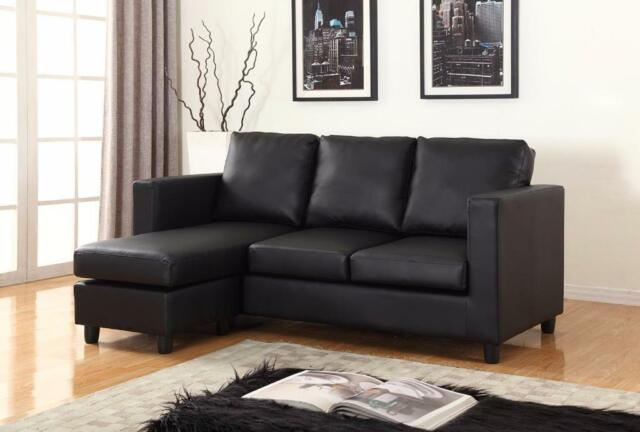 Free delivery in toronto small sectional with reversible for Apartment size sectional sofa with chaise