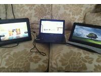 "Kindle fire 8.9"" Asus memopad 10.1"" Samsung nc110 10.1"""